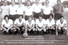 Equipe réserve 1971-1972