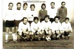 Equipe réserve 1974-1975