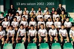 13 ans 2002/2003