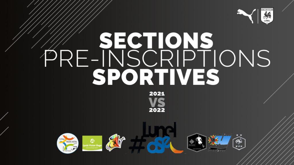 Pré Inscriptions Sections Sportives Rentrée Scolaire 2021