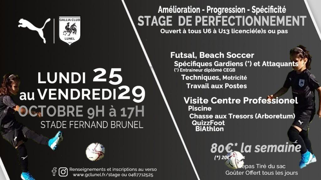 Stage Vacances Toussaint 2021